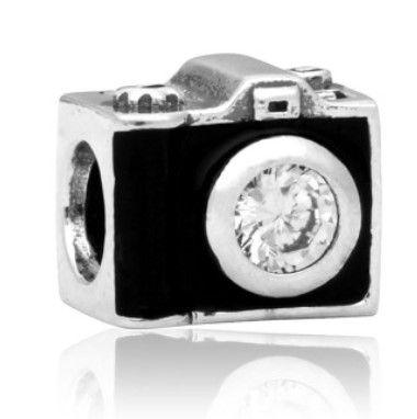 Подходит стиль стерлингового серебра браслет камеры бусины подвески для Diy европейский стиль змея цепи мода DIY ювелирных изделий оптом