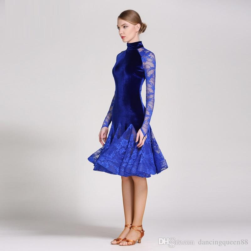 vestido de baile latino de encaje traje de baile moderno vestidos de baile latino para mujeres vestido de baile de tango mujeres latinas salsa fringe rumba