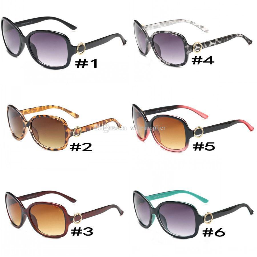 النظارات الشمسية أزياء الاتجاه للنساء 8016 إطار كبير جولة نيس الوجه النظارات الشمسية النظارات الشمسية الرجعية 6 ألوان الجودة