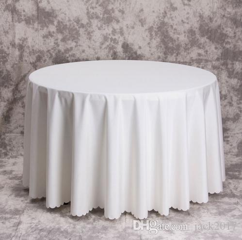 Charmant Big Size Polyester White Round Table Cloth Wedding Tablecloth Party Table  Cover Square Dining Table Linen Rectangular Wholesale Wedding Decoration  Checklist ...