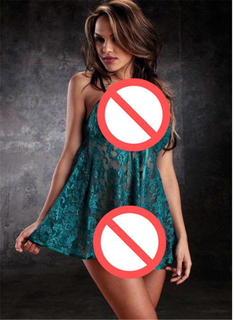 Sex Dolls Pour Hommes Femmes Combinaison Pyjamas Sexy Sous-Vêtements Lady Soie Chemise String Clairvoyant Outfit Sommeil Pour Open Crotch 2016 Adult Toys