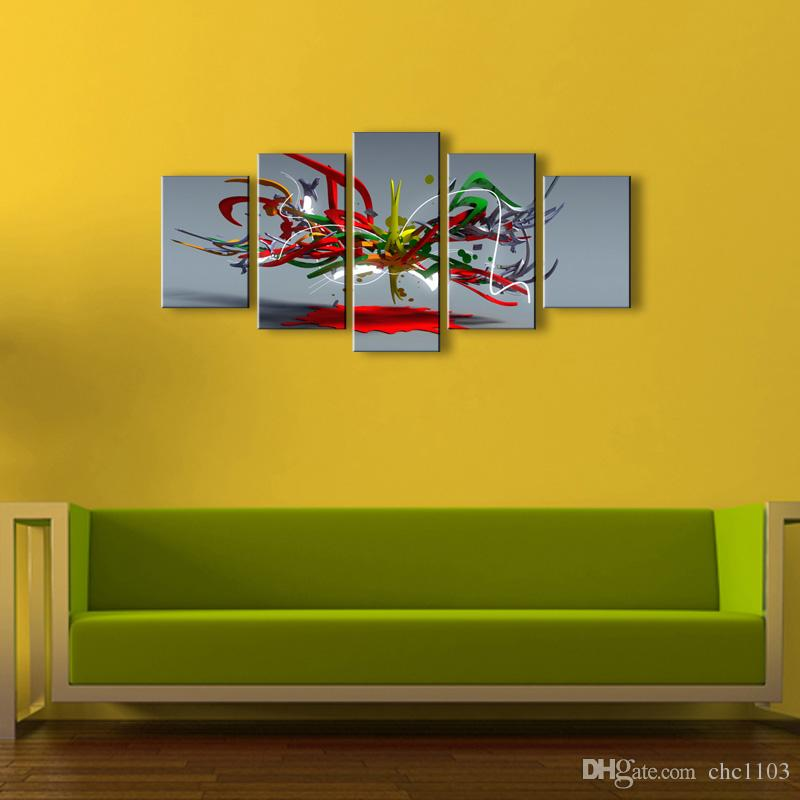 5 Panel abstract Painting Canvas Wall Art Picture Home Decoration Living Room Canvas Print Modern Painting--Large Canvas Art Cheap SD-002
