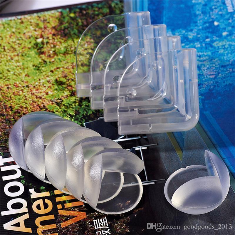 Con cinta adhesiva Suave PVC transparente Pelota de seguridad para bebés Protector de esquinas en forma de esquina / Cuidado de niños Ángulo de mesa Anticolisión Cojín b1170