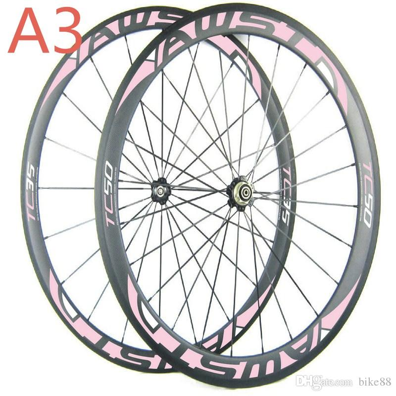 china road bike wheels front 38mm rear 50mm cheap bicycle wheels 700C full carbon cycling wheels with powerway hubs in stock