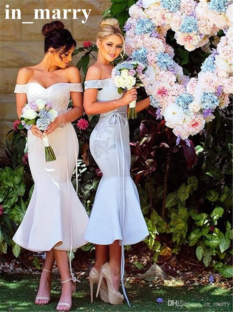 Sexy off shoulder plus size mermaid bridesmaids dresses 2017 sexy off shoulder plus size mermaid bridesmaids dresses 2017 vintage lace long satin tea length cheap arabic country wedding guest gowns beach wedding ombrellifo Images