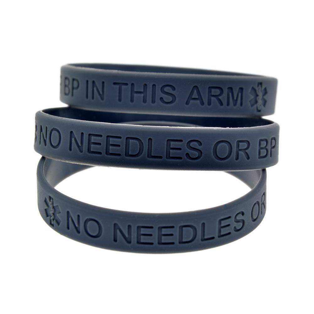Vendita calda Nessun ago o BP in questo bracciale in silicone bracciale in silicone pieno di dimensioni del braccialetto