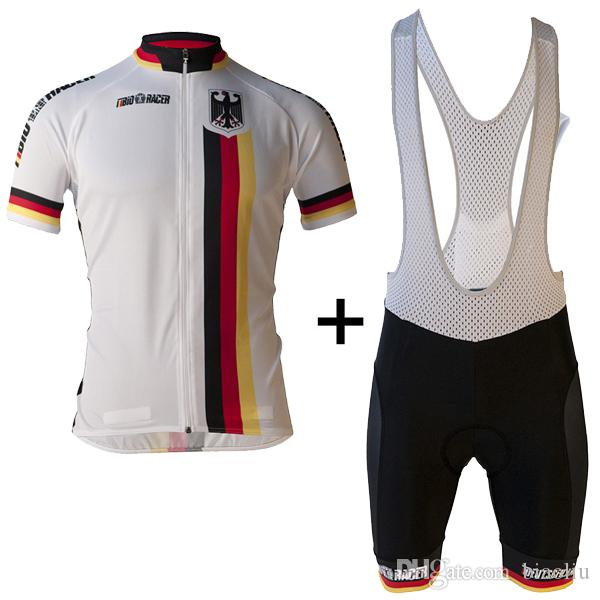 fb2feed60 2017 Germany Team Cycling Jersey Men s Short Sleeve Bicycle Cycling ...