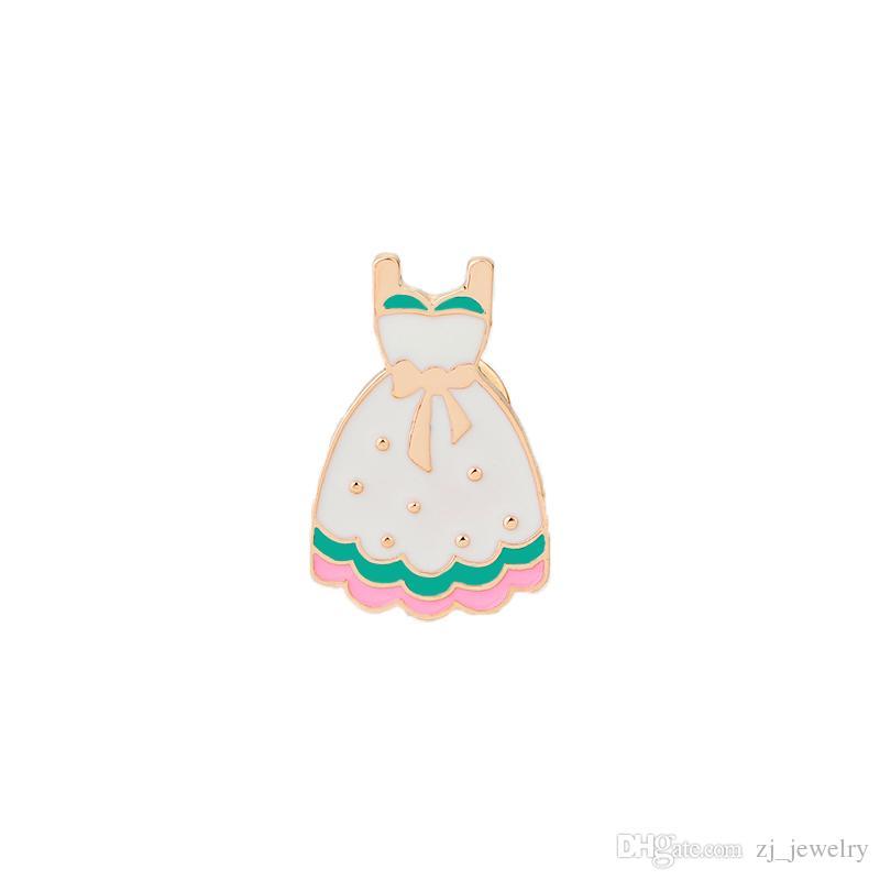 Kwaii Princess Dress Heart Rose Flower Santa Claus Enamel Brooches Pins for Women Fashion Cartoon Button Pins Badge Jewelry Christmas Gift