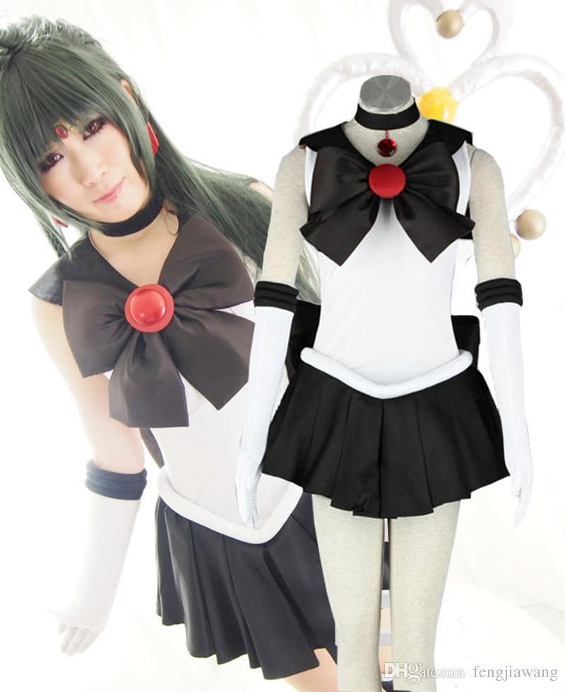anime sailor moon sailor pluto cosplay costume black