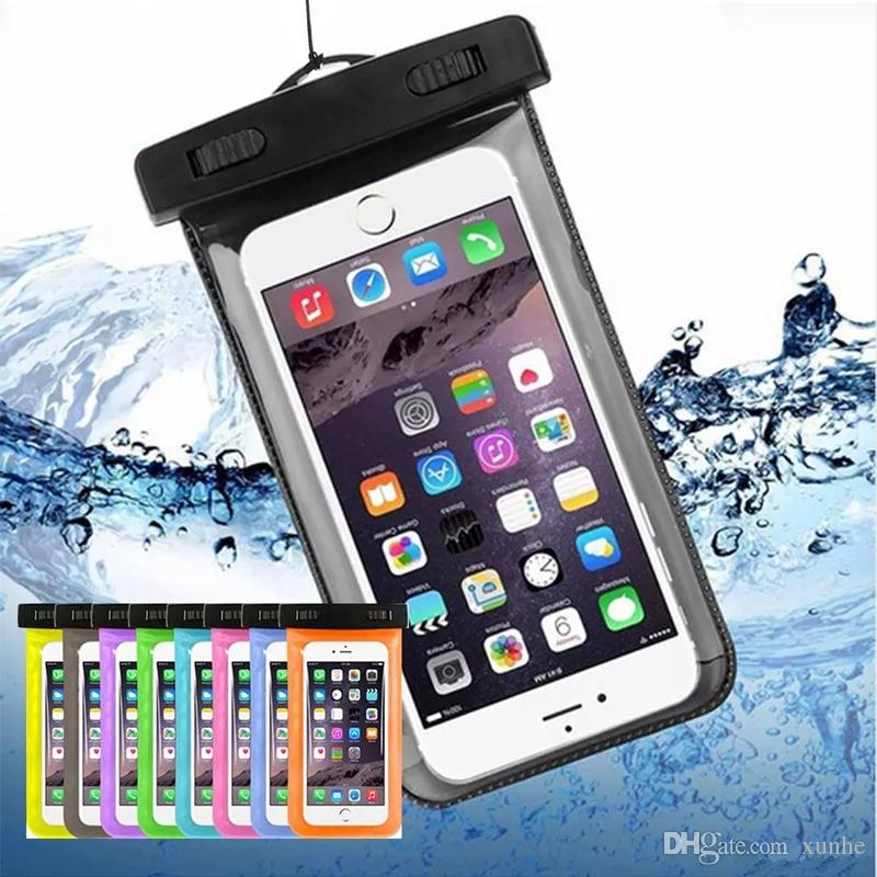 the best attitude 852fe 428a2 Waterproof Case for iPhone X 8 7 6S Plus Dry Bag for Samsung Note8 S8 S7  Universal WaterProof Phone Case for Diving Swimming