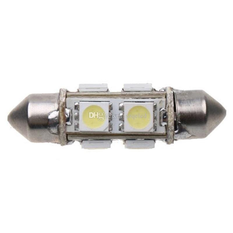1 Çift 8 5050 SMD LED 39mm DC 12 V Led Araba Ampul İç Dome Festoon Beyaz Ampul Lamba Led Araba Park Lambası