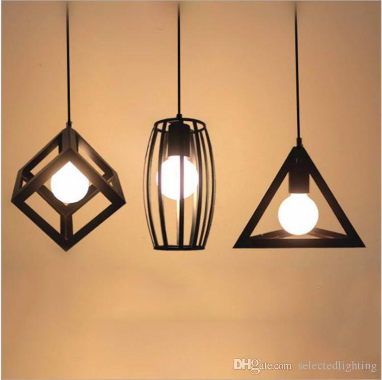 Retro industrial luces colgantes Loft Vintage lámpara restaurante dormitorio sala de estar E27 Birdcage colgante lámpara colgante accesorio de la luz
