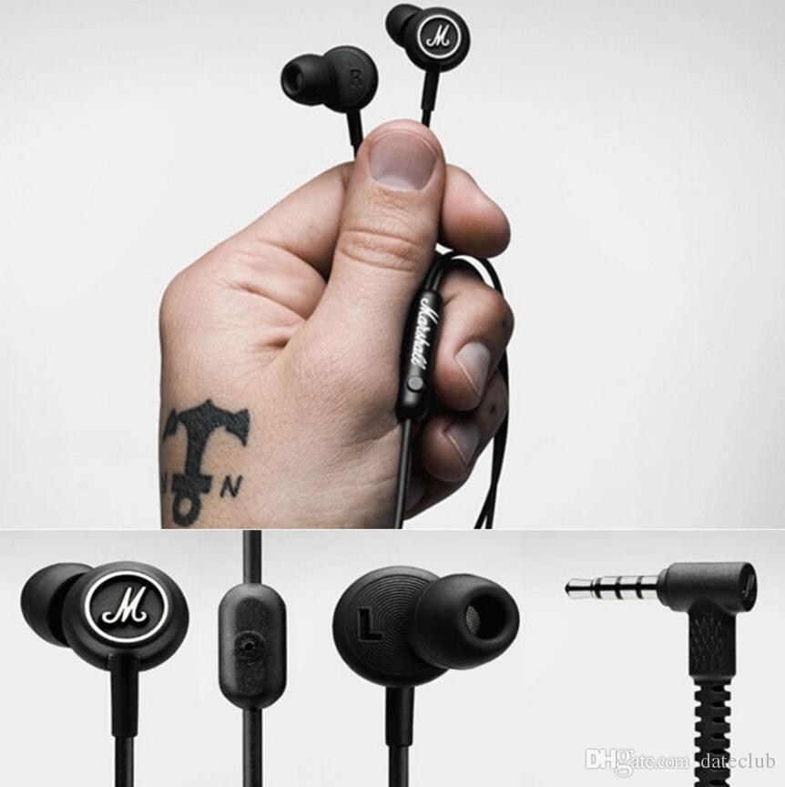 2017 Marshall MODE With microphone earphones In-ear headphones for iphone HTC MP3 MP4 music Player HD HIFI headset