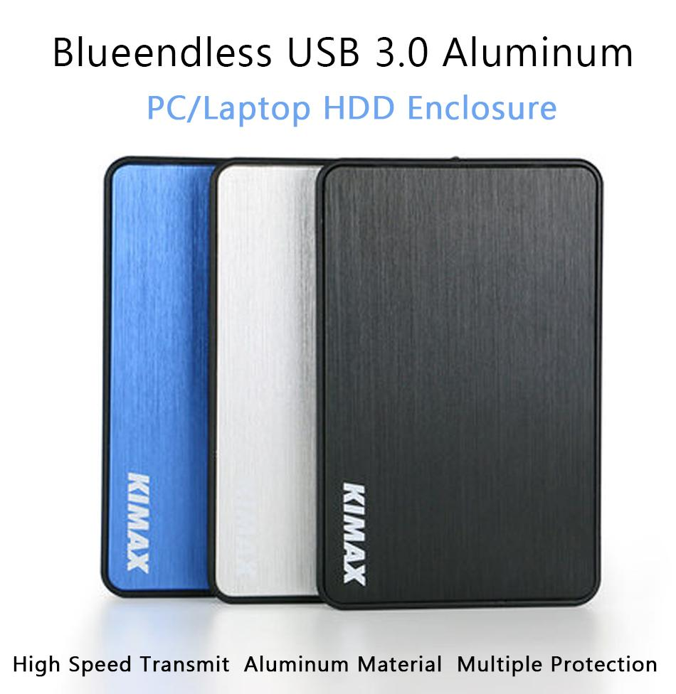 "Wholesale- Tool Free USB 3.0 HDD Case Aluminum Hard Drive Disk Enclosure for 2.5""SATA SSD Drive External Storage MR23K Black/White/Blue"