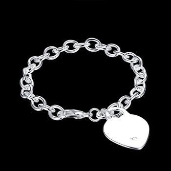 Hurtownie - Detaliczna Najniższa cena Christmas Gift, Darmowa Wysyłka, Nowy Bransoletka Moda Silver 925 B268