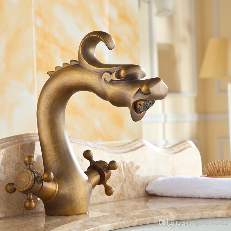 2019 Kitchen Faucet 360 Swivel Retro Mixer Tap Copper Hot And Cold Basin  Tap Fashion Antique Robinet Salle De Bain From Qimeiyao22, $71.14 |  DHgate.Com