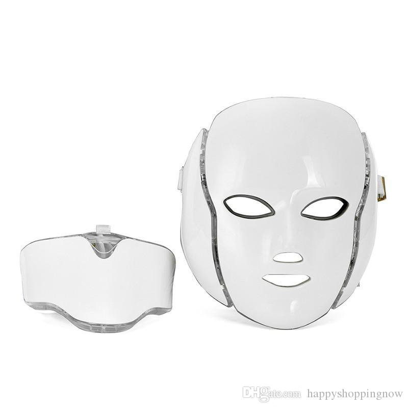 Anti aging PDT Beauty Machine Led Light Therapy Face Mask 7 Colors led skin rejuvenation mask