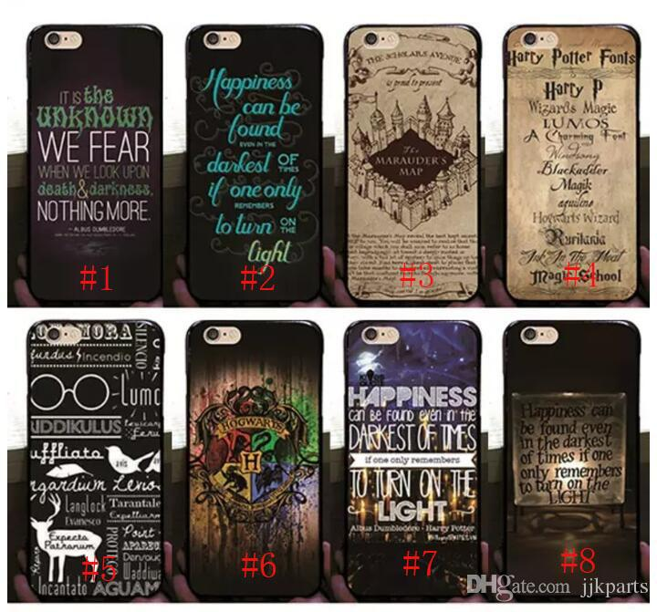 lowest price 4e1dd 41224 Hot Harry Potter Marauders Hard PC Case for iphone 7 7p 6 6S Plus 5 5S  Hogwarts Map Words Plastic Back Cover Skin Shell
