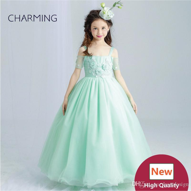 0e26291fdb616 Emerald green dress Girls pageant dresses High quality designer dresses  real photo Fancy dress China wedding dress