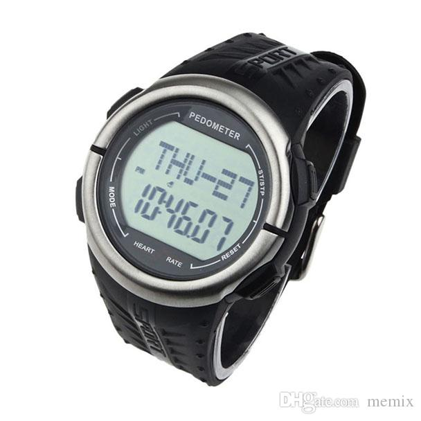 Waterproof 2017 Fashion Brand Digital 3D Pedometer Calories Counter Pulsometer Heart Rate Monitor LED Sport Watch Saat