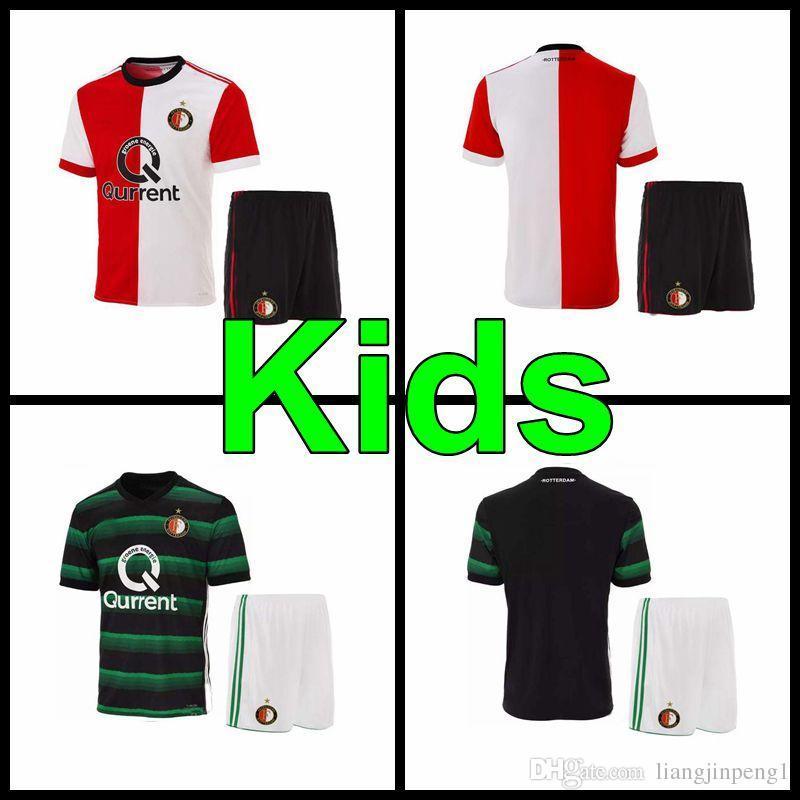 2018 Kids Set 2017 2018 Feyenoord Soccer Jersey 17 18 Youth Football Jerseys  Shirts Kuyt Lex 0d69f214f