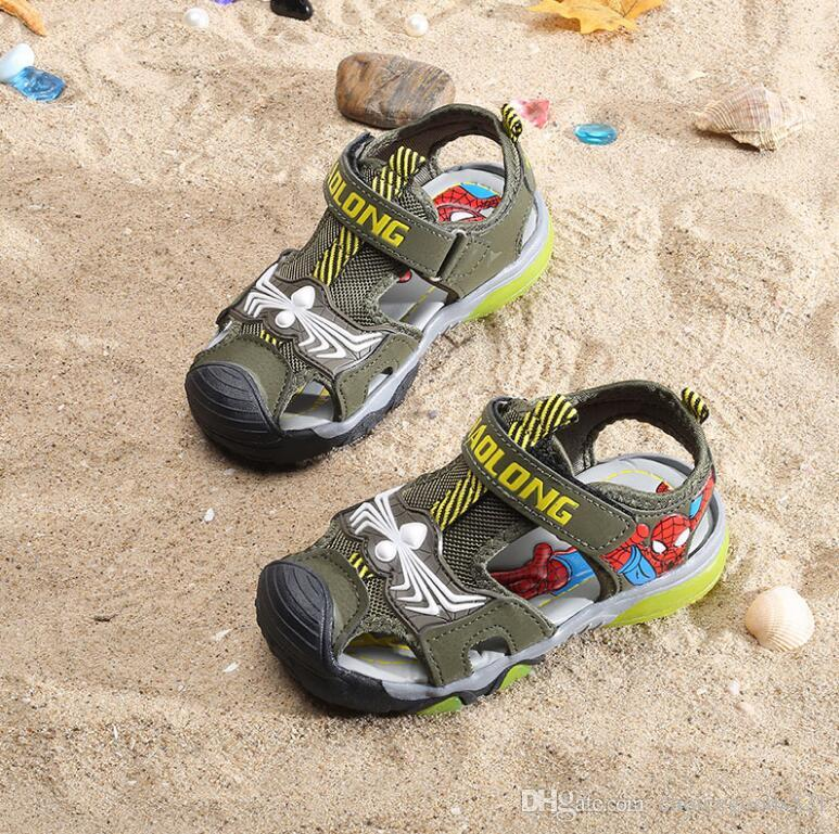 6f9498953f31a1 Summer kids shoes cartoon closed toe toddler boys sandals orthopedic sport  pu leather baby boys sandals shoes