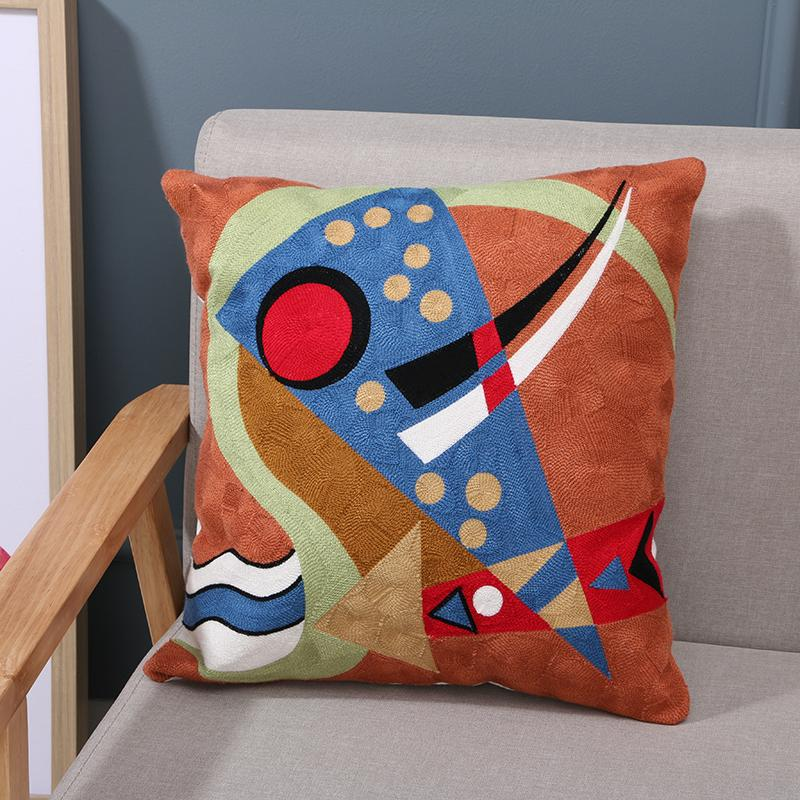 Taies d'oreiller En Gros Personnalisé De Mode Picasso Style Oreiller Laine Complet De Canapé Brodé Coussins Ensemble Maison Creative Motif Taie d'oreiller