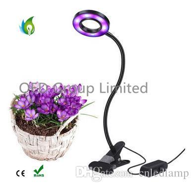 10W Dimmable LED Planter de la lumière avec une usine réglable d'intérieur de bureau de pince à ressort Grow Lighting