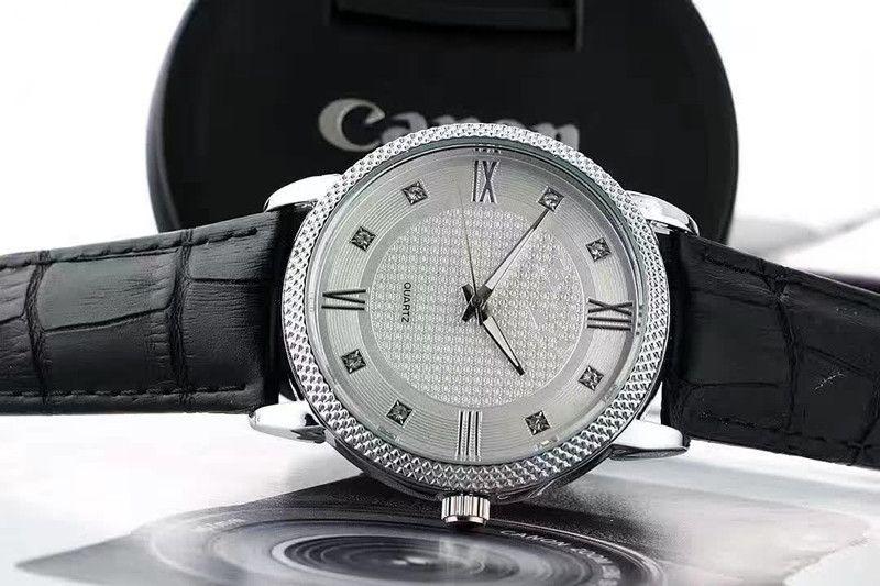 30٪ Geneva Watches 2016 رائع الأزياء الفاخرة عارضة الرجال ووتش الجلود الكوارتز التناظرية ساعات ماركة ساعة الذكور عارضة بارد ووتش # 0629