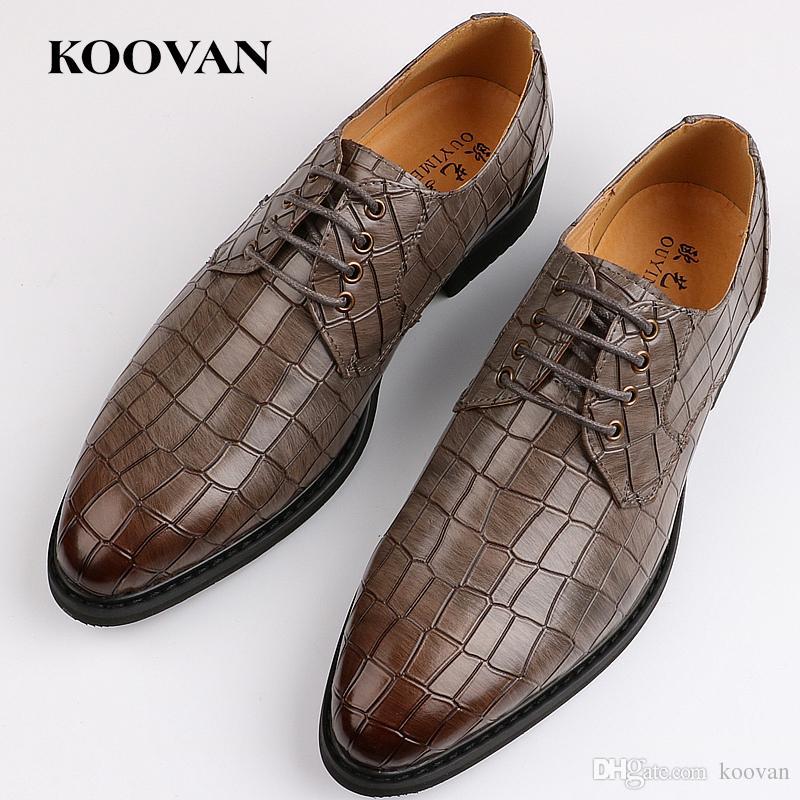 Hommes Motif Crocodile Chaussures D'affaires gq47up