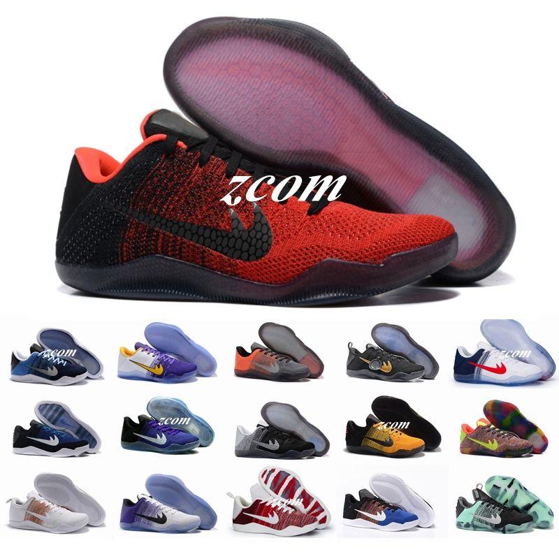 2017 Cheap Sale Kobe 11 Elite Mens Basketball Shoes for Top Quality Black  White XI KB Weaving Sports Training Sneakers Size 7-12 Kobe 11 Elite Shoes  Kobe 11 ...