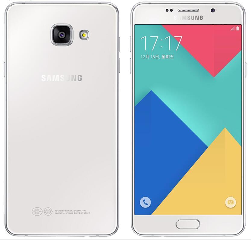 الأصلي Samsung Galaxy A7 A7000 المزدوج SIM Octa Core 2GB / 16GB 5.5 بوصة 13MP 4G LTE تم تجديد الهاتف المحمول مقفلة