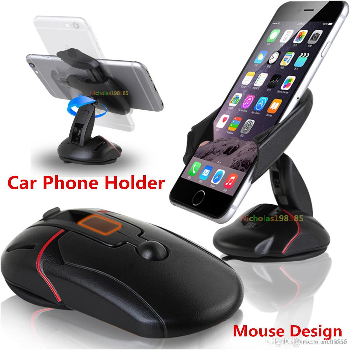 2019 2017 Luxury Car Phone Holder Gps Accessories Suction Cup Mouse