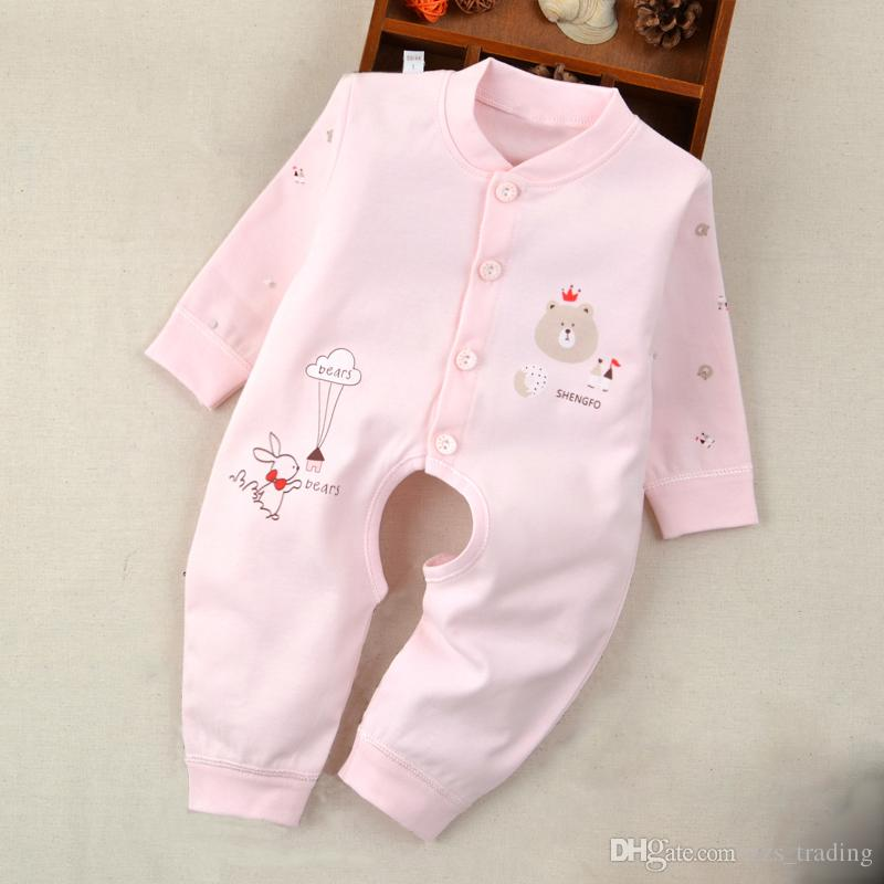 848655aa9 2019 2017 Autumn Baby Rompers Pajamas Newborn Baby Clothes Long Sleeve  Underwear Cotton Costume Infant Boys Girls New Born Jumpsuit From  Zzs_trading, ...