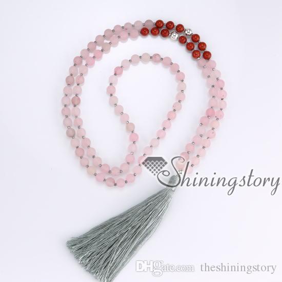 108 mantra meditazione perline indiano buddista tibetano collana di perle di preghiera indù yoga mala collana di perline yoga gioielli spirituale di guarigione