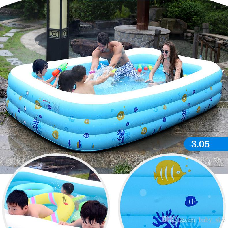 2018 Baby Inflatable Swimming Pool For Adult Kids Cartoon Tub Portable Home Outdoor Swim Toys