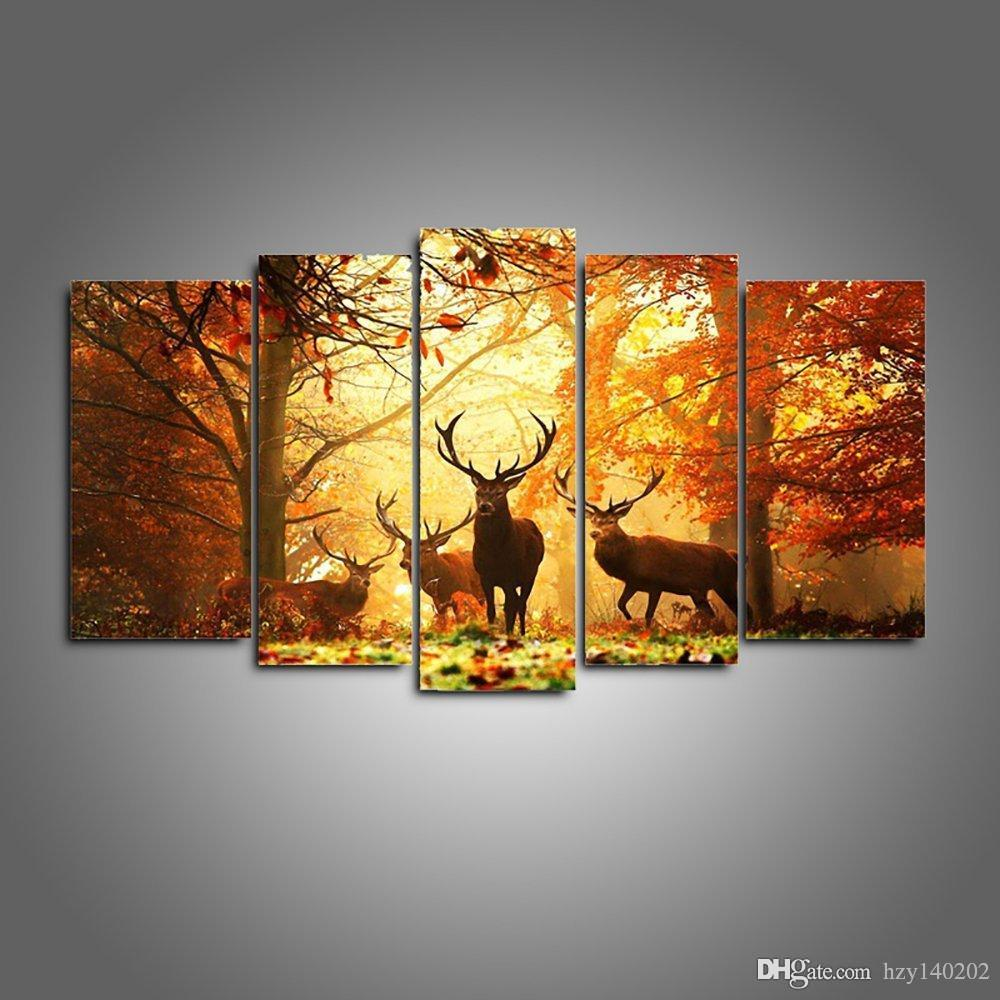 Best Yijiahe Dw67canvas Painting Art Wapiti Wall Art Pictures Print ...