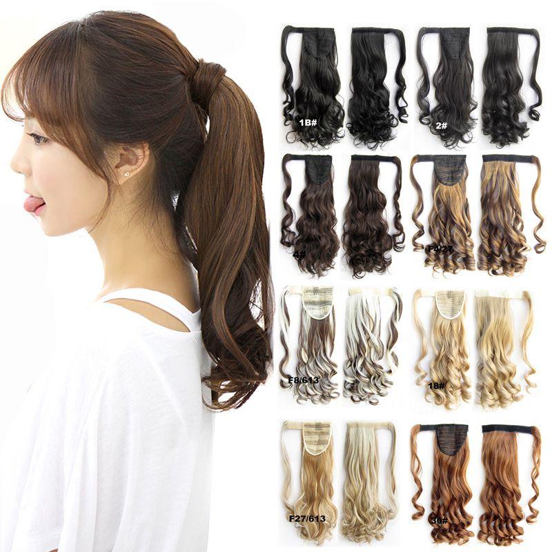 Wholesale Wave Magic Hair Ponytail Hair Pieces Drawstring Ribbon