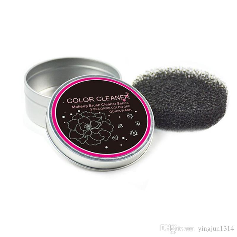 makeup brush cleaner sponge. new practical sponge box makeup brushes cleaner tool dry clean blush eyeshadow eyebrow brush professional remover color swich kits online from