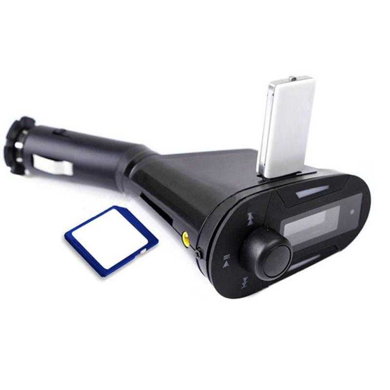 Car Auto LCD MP3 Player de Áudio Música Sem Fio Bluetooth Transmissor FM Modulador com Controle Remoto Vermelho Azul Luz