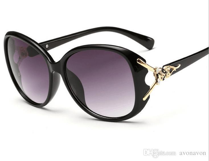 2017 Марка мода Фокс солнцезащитные очки очки женские солнцезащитные очки оттенки лягушка зеркало большой полный кадр очки b650