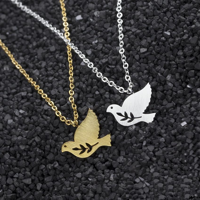 Wholesale stainless steel peace dove bird pendants necklaces women wholesale stainless steel peace dove bird pendants necklaces women jewelry body chain olive branch statement necklace tattoo choker popular pendant aloadofball Gallery