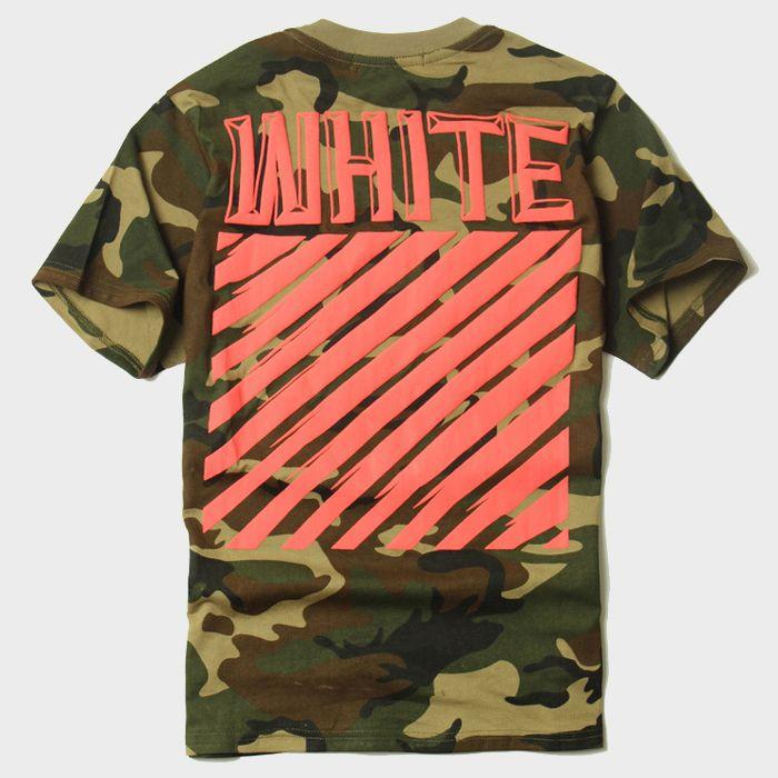 2017 New OFF WHITE Camo T Shirt Diagonals Striped Short Sleeve Cotton T  Shirts Mens Military Summer Tees Hip Hop Skateboard Shirt CRG0318 Cheap T  Shirts ... 018e54eb4a1