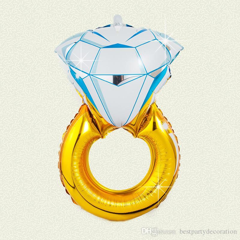 Liebhaber, Hochzeit, Ehe-Ballon, Diamant-Ballon-Braut-Ring-Verlobungs Foil Valentine Ballon-Partei-Spielzeug mit hohen Qualität