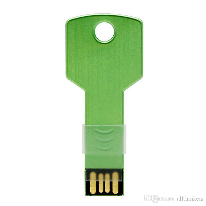 100% реальная емкость красочные металлический ключ форма usb флэш-накопитель 4 ГБ 8 ГБ 16 ГБ pen drive pendrive U диск флэш-памяти stick Бесплатная доставка