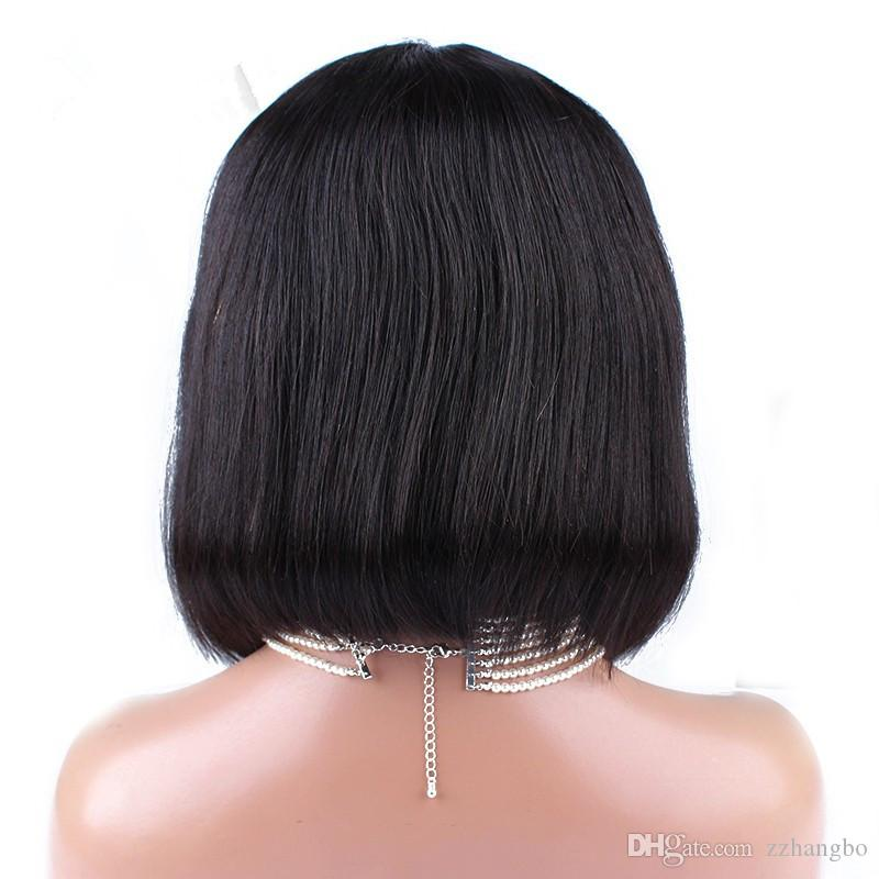 Full Lace Wigs High Quality Virgin Peruvian Database Senior Human Hair 100% Wigs Silk Hair Wigs And pressure Shoelace Knot Knitting Baby's