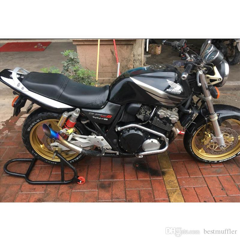 355mm Universale 52mm Tubo di scarico moto Laser Mark GP HP Con Dirt Street Bike Scooter Tail Pipe YamahaR6YZF Huanglong 300