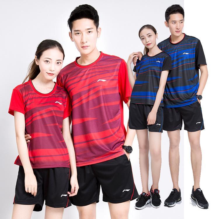 8692c6c4163 2019 New Li Ning Badminton Sport Shirt