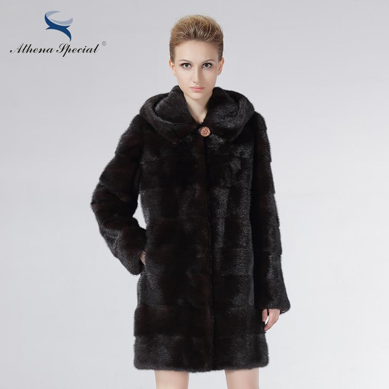 Athena Special Brand Fur Coat Real Mink Coats For Women Long ...