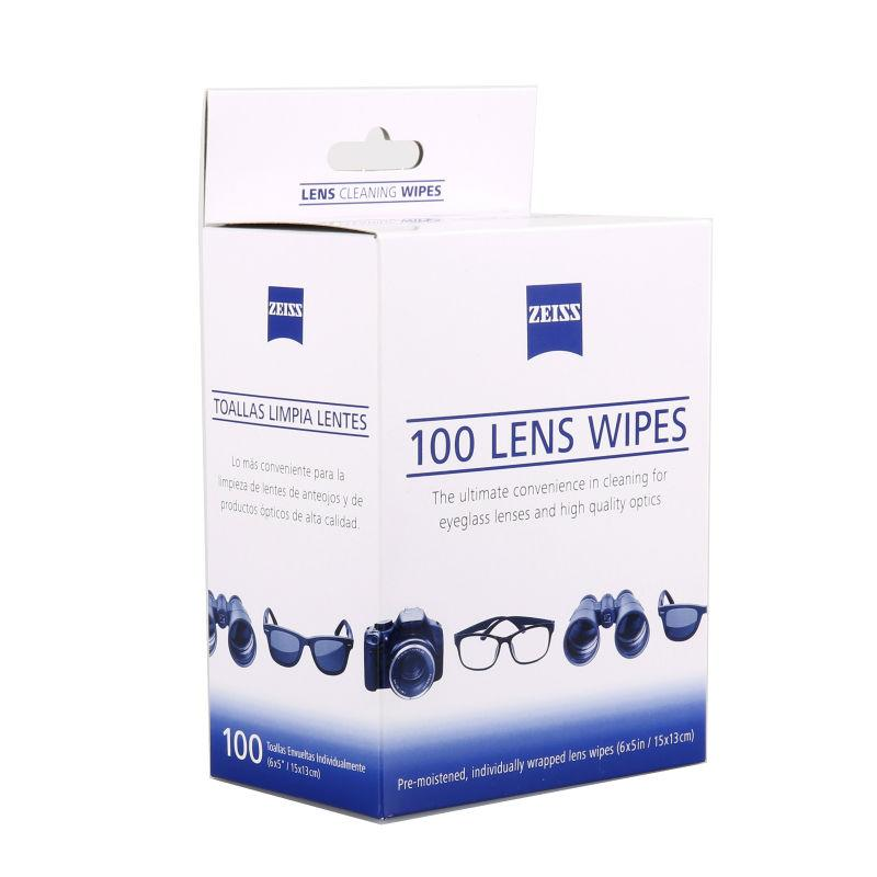 Wholesale- 100 counts Zeiss lens cleaning wipes for spectacles, goggles,  computer screens, CDs, DVDs, mobile phones, camera lenses
